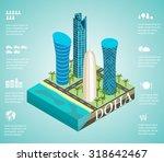 isometric 3d skyscrapers in the ... | Shutterstock .eps vector #318642467