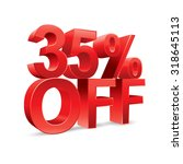 35 percent off promotional... | Shutterstock .eps vector #318645113