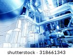 sketch of equipment  cables and ... | Shutterstock . vector #318661343