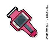 sport watch doodle | Shutterstock .eps vector #318669263