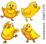 little chick looking happy... | Shutterstock .eps vector #318671153