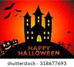 happy halloween | Shutterstock . vector #318677693