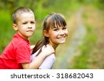 cute children are playing in... | Shutterstock . vector #318682043