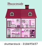 house in cut. detailed modern... | Shutterstock .eps vector #318695657