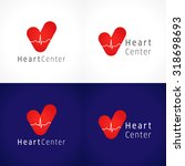the logotype of cardiology... | Shutterstock .eps vector #318698693