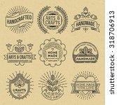 grunge hipster retro design... | Shutterstock .eps vector #318706913