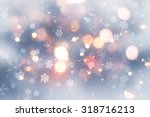 decorative christmas background ... | Shutterstock . vector #318716213