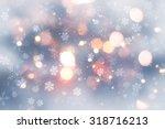 decorative christmas background ... | Shutterstock . vector #318716213