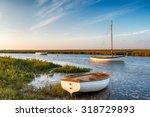 Boats At High Tide On Salt...