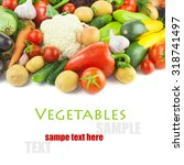 organic different vegetables    ... | Shutterstock . vector #318741497