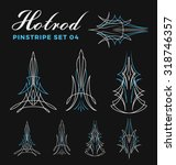 set of vintage pin striping... | Shutterstock .eps vector #318746357