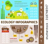 ecology infographic set with... | Shutterstock .eps vector #318748547