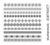 asian frame ornament  pattern... | Shutterstock .eps vector #318750377