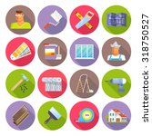 renovation flat icons set with... | Shutterstock .eps vector #318750527