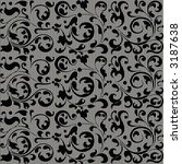 seamless vector black wallpaper ... | Shutterstock .eps vector #3187638