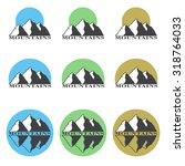 colored logos  icons mountain... | Shutterstock . vector #318764033