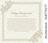 square vintage background with... | Shutterstock .eps vector #318773177