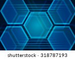 blue geometric abstract... | Shutterstock .eps vector #318787193