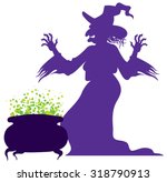 silhouette of the old scary... | Shutterstock .eps vector #318790913