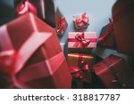 classy christmas gifts box... | Shutterstock . vector #318817787