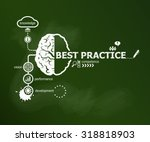 best practice concept and brain.... | Shutterstock .eps vector #318818903