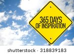 Small photo of 365 Days of Inspiration sign with sky background