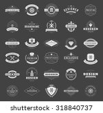 retro vintage logotypes or... | Shutterstock .eps vector #318840737