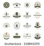 set beer logos  badges and... | Shutterstock .eps vector #318843293