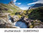 trollstigen  norway. a little... | Shutterstock . vector #318854963