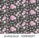 flower seamless pattern on dark ... | Shutterstock .eps vector #318856097