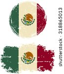 mexican round and square grunge ... | Shutterstock .eps vector #318865013