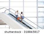 young beautiful happy women on... | Shutterstock . vector #318865817