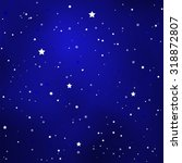 Simple Starry Royal Blue Sky...