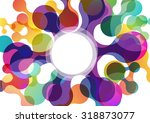 vector abstract background with ... | Shutterstock .eps vector #318873077