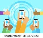 illustration of identification... | Shutterstock . vector #318879623