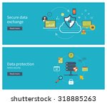 set of flat design illustration ... | Shutterstock . vector #318885263