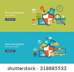 set of flat design illustration ... | Shutterstock . vector #318885533