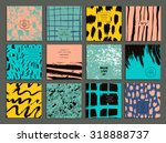 set of creative freehand cards. ... | Shutterstock .eps vector #318888737