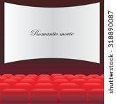 cinema theatre with red seats... | Shutterstock .eps vector #318890087