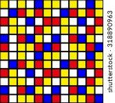 mondrian squares pattern | Shutterstock .eps vector #318890963