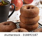 Cinnamon Donuts Stacked With...