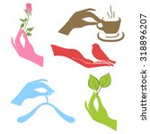 vector set with signs of love...   Shutterstock .eps vector #318896207