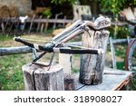 Small photo of old arbalest model as showpiece