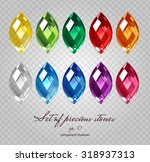 crystals icons set of 10 colors ... | Shutterstock .eps vector #318937313