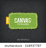 vector rough stitched green...