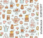 tea time yummy seamless pattern ... | Shutterstock .eps vector #318952397