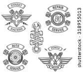 set of car emblems  badges.... | Shutterstock .eps vector #318955013