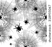 cobweb spider seamless...   Shutterstock .eps vector #318955067