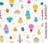 abstract characters vector... | Shutterstock .eps vector #318955517