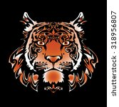 vector image red tiger for... | Shutterstock .eps vector #318956807